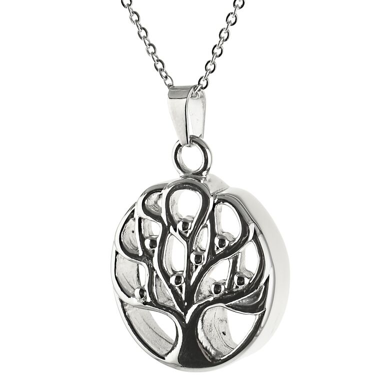 Andenken Anhänger Baum Des Lebens Aus Edelstahl 79 90