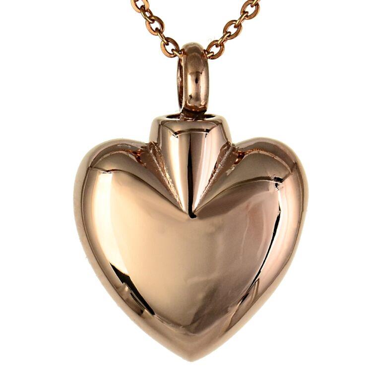 Farbe Aus Was: Asche Anhänger Herz Aus Edelstahl Matt In Der Farbe Silber