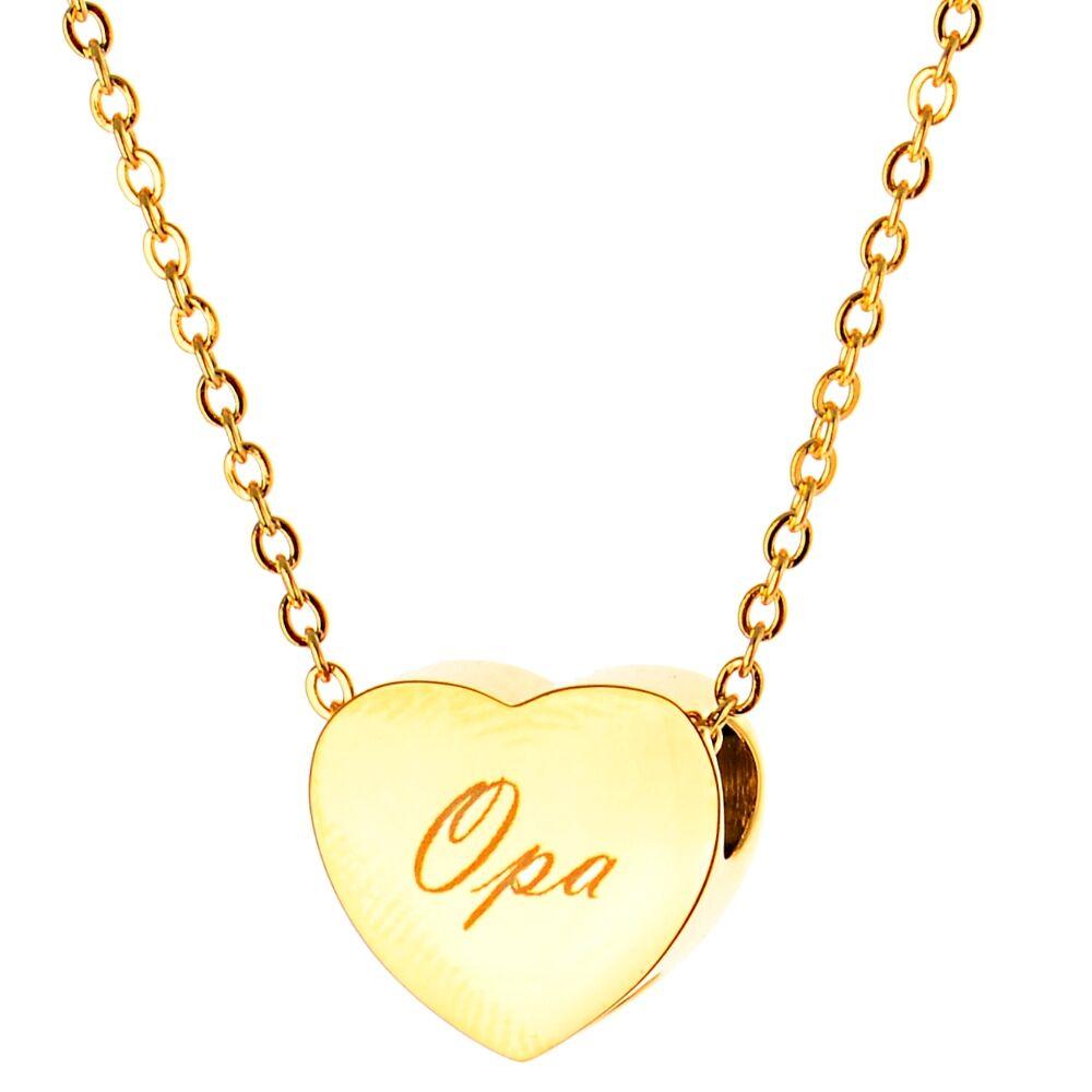 Asche Anhänger Andenken sehr kleines Herz Hochglanz poliert goldfarben aus Edelstahl Gravur auf Wunsch AP 572 Gold