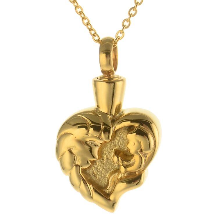 Gedenkanhänger Herz Mama und Kind Farbe Gold mit Gravur, 89,90 €